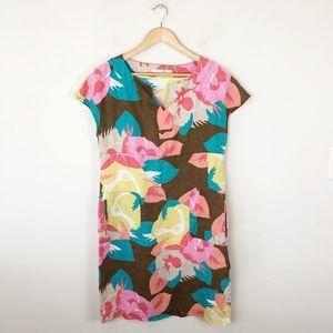 Boden Linen Printed Sheath Dress
